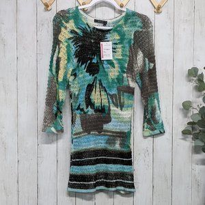 Orly Blue and Green Knit Dress